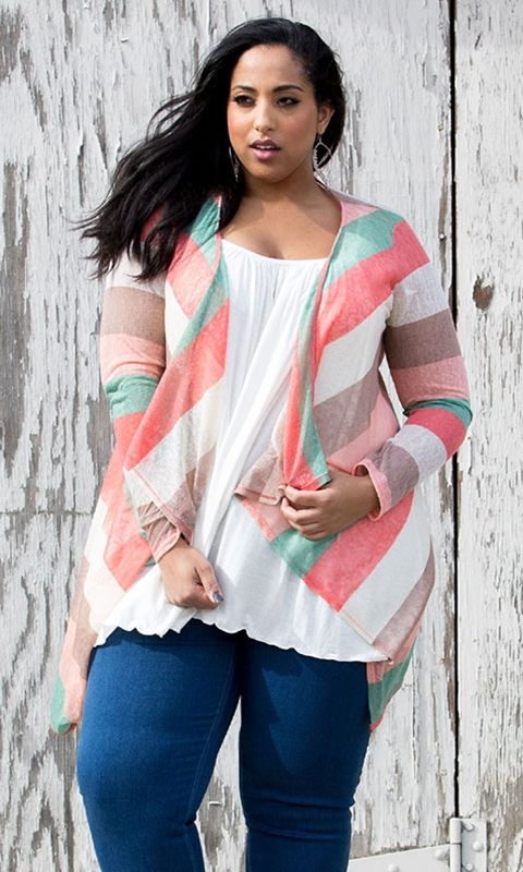 Kylie Plus Size Cardigan #bbw #curvy #fullfigured #plussize #thick #beautiful #sexy #fashionista #style #fashion #shop #online www.curvaliciousc... 15% OFF- Use code: TAKE15 at checkout