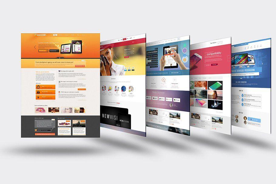 3d Website Mock Up 5 Professional Business Card Design Mocking Mockup