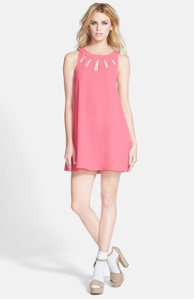 4a804fffbef Free shipping and returns on Tildon Cutout Dress at Nordstrom.com. A row of  teardrop cutouts embellishes the neckline of a sleeveless shift dress cut  in a ...