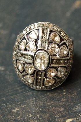 Large round diamond ring .925 and 14K gold back. 3.15 c diamonds. Size 8.