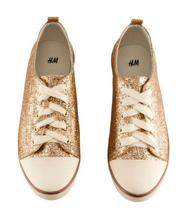 glittery sneakers, under the dress for the reception.