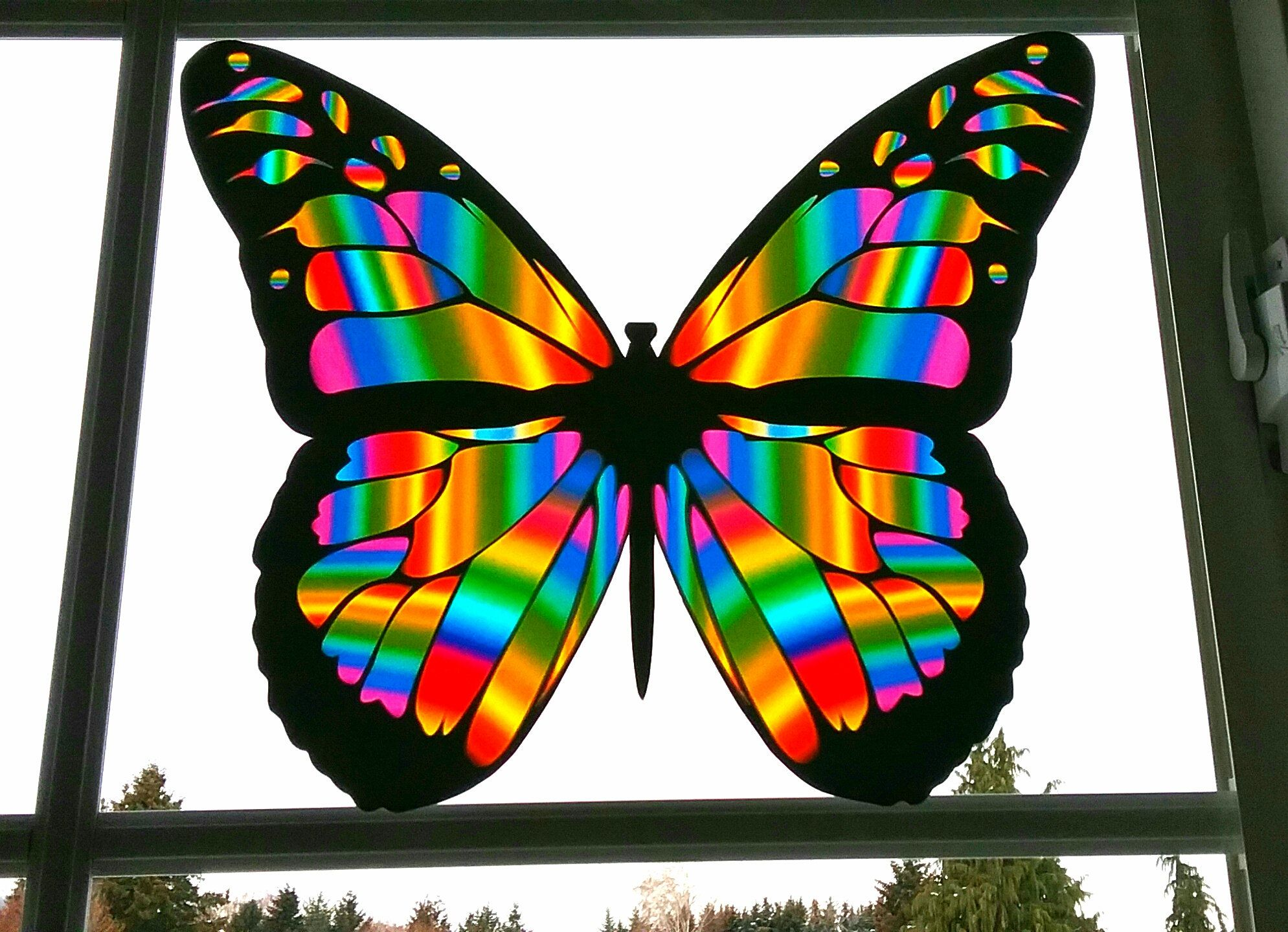 Unique d Disney Stained glass effect decor 3d butterfly stickers Sun catchers