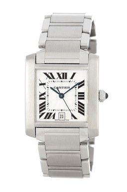 Vintage Cartier Unisex Tank Francaise Jumbo 18K White Gold Automatic Watch