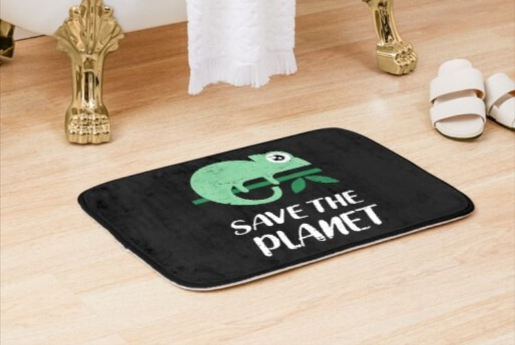 Save The Planet Bathmat In 2020 Save The Planet Planets Bath Mat