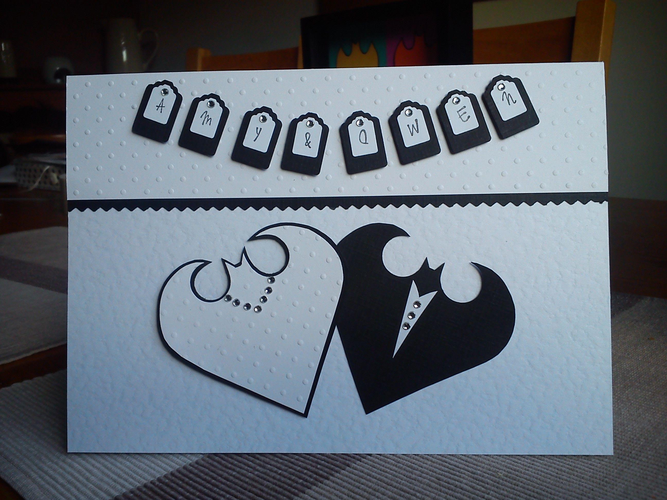 Handmade personalised batman wedding card wedding invites handmade personalised batman wedding card stopboris Gallery