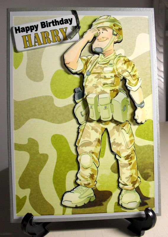 Handmade personalised soldierarmyforces male birthdayage handmade personalised soldierarmyforces male birthdayage greeting card bookmarktalkfo Choice Image