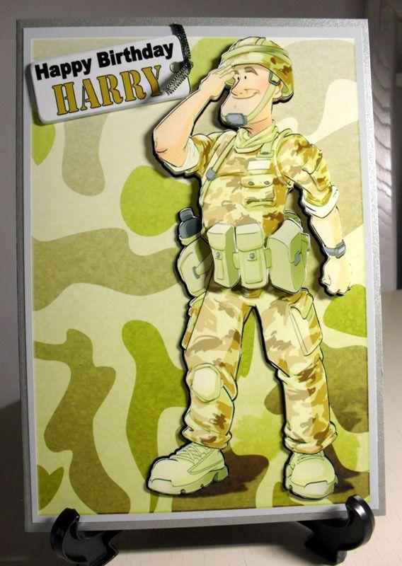 HANDMADE PERSONALISED SOLDIERARMYFORCES MALE BIRTHDAYAGE – Army Birthday Cards