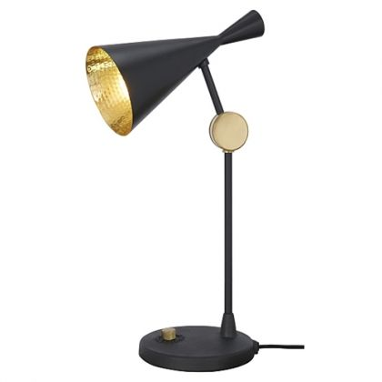 lampe poser beat light tom dixon noir laiton