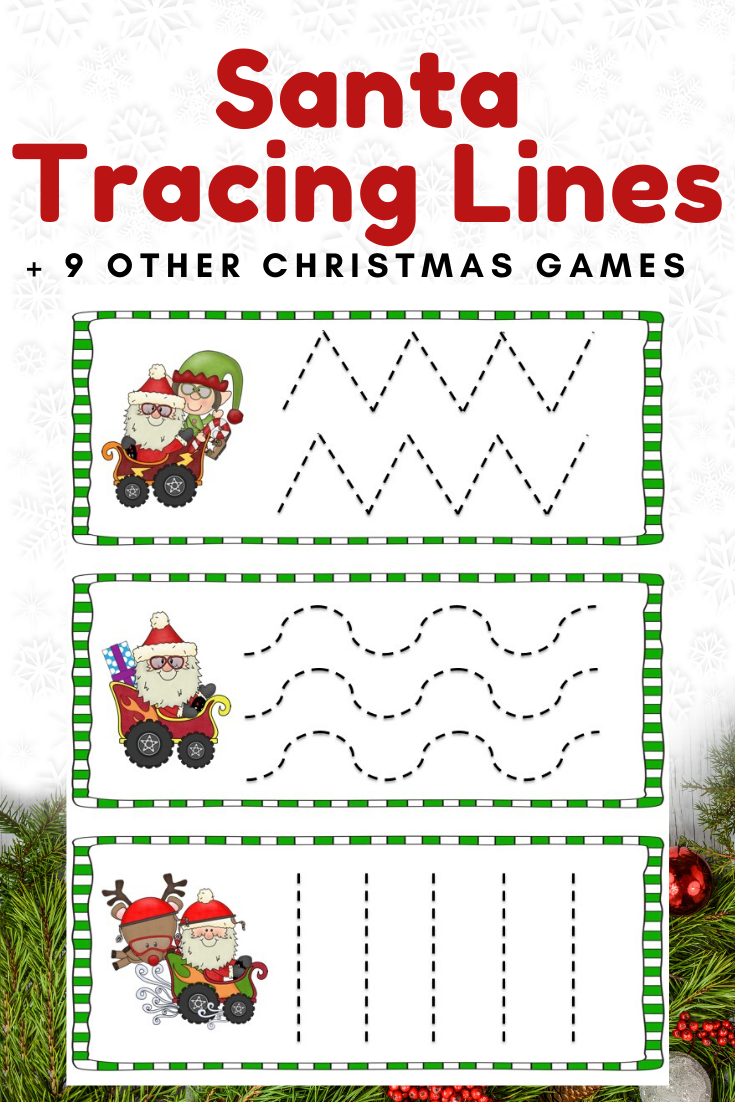 Fun Christmas Printables For Preschool And Kindergarten 10 Literacy And Math Chri Prewriting Skills Kids Worksheets Printables Preschool Christmas Activities [ 1102 x 735 Pixel ]