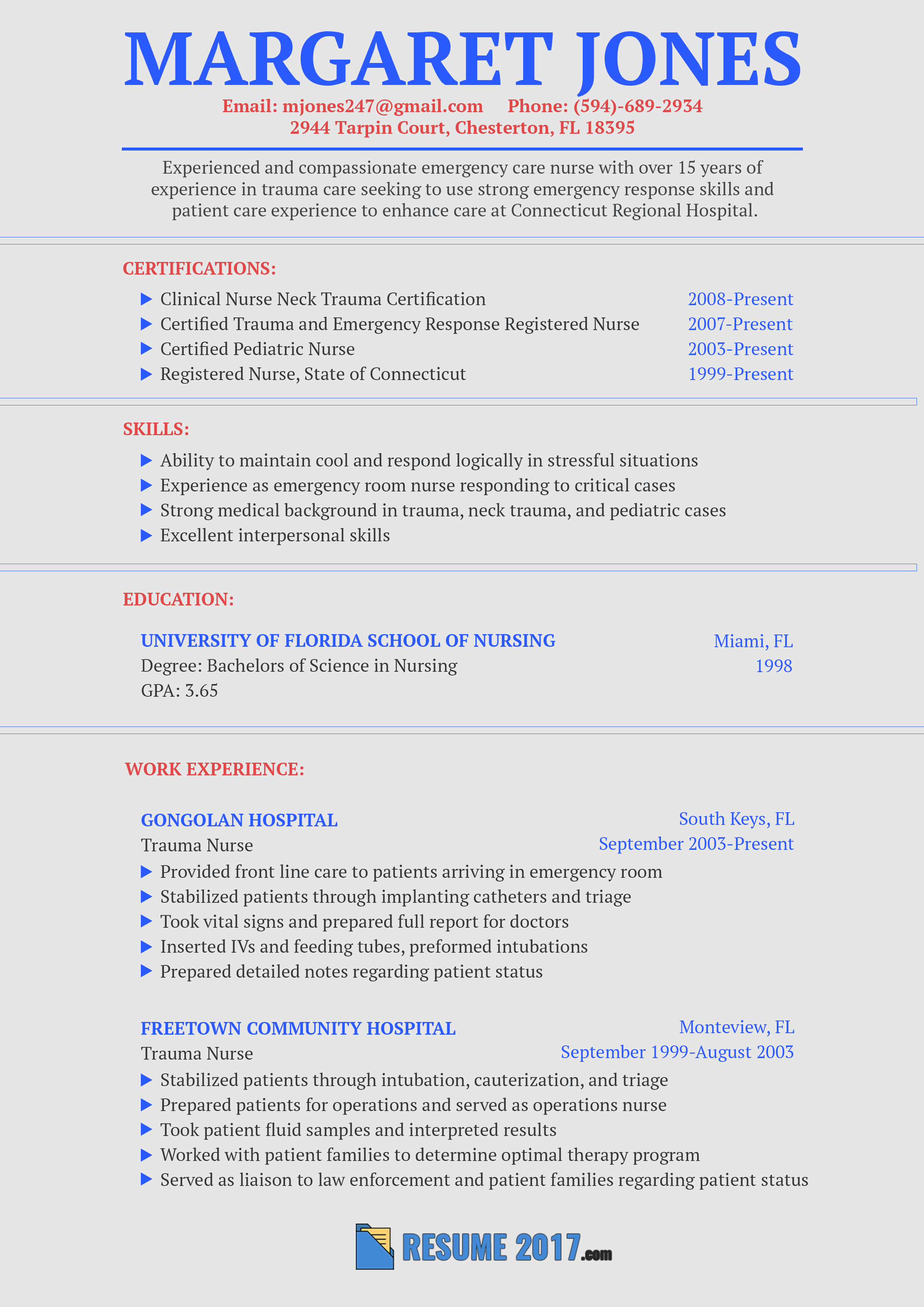 This Flawless Nurse Resume Sample 2018 Will Show You How To Make Your Resume  Stronger. Get More Samples On This Site