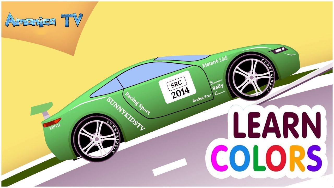 Learn Colors Car Cartoon For Kids And Toddlers Colours Cartoon For