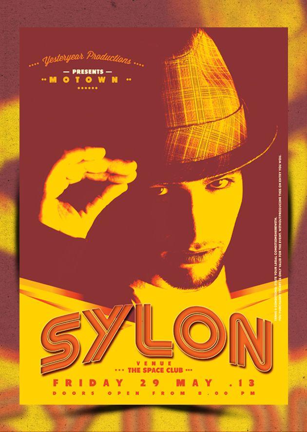 Sylon Poster  Poster A Size  Print Ready Vintage Retro Flyer