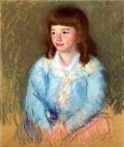 Young Boy in Blue - Mary Cassatt, c.1906