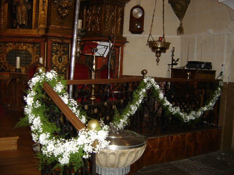 guirnalda de flores para boda