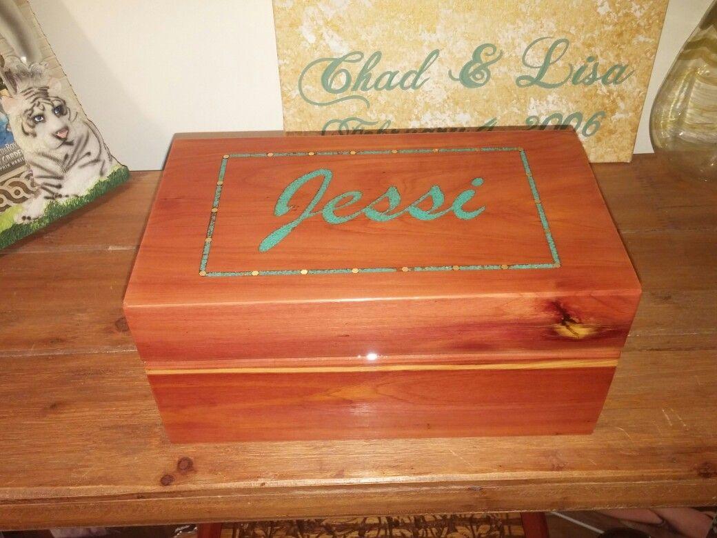 Turquoise inlay jewelry box cnc Chad Stouts Designs Pinterest