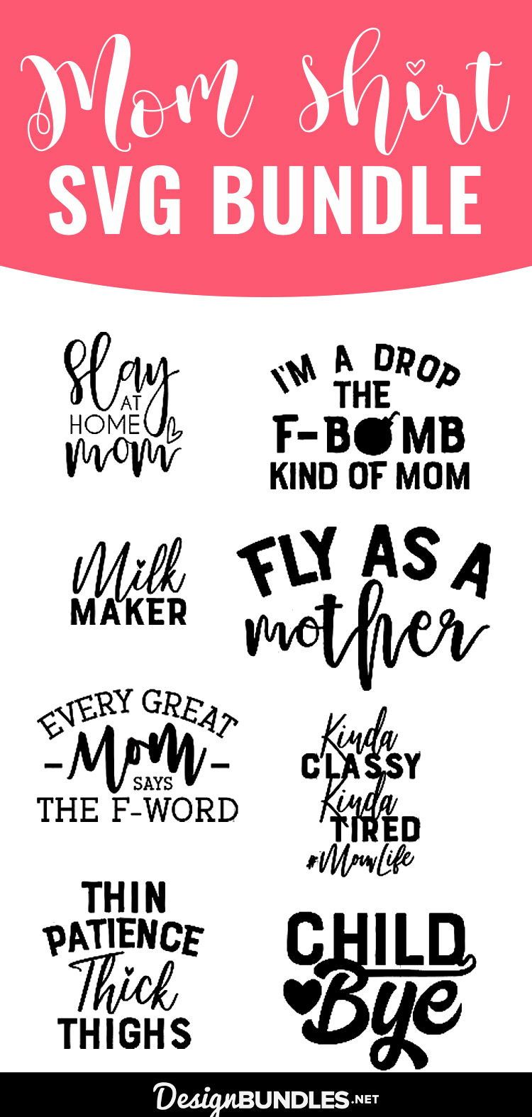 Funny Mom SVG Cut File Bundle