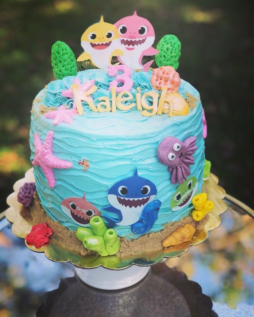 Baby Shark Custom Birthday Cake Shark birthday cakes