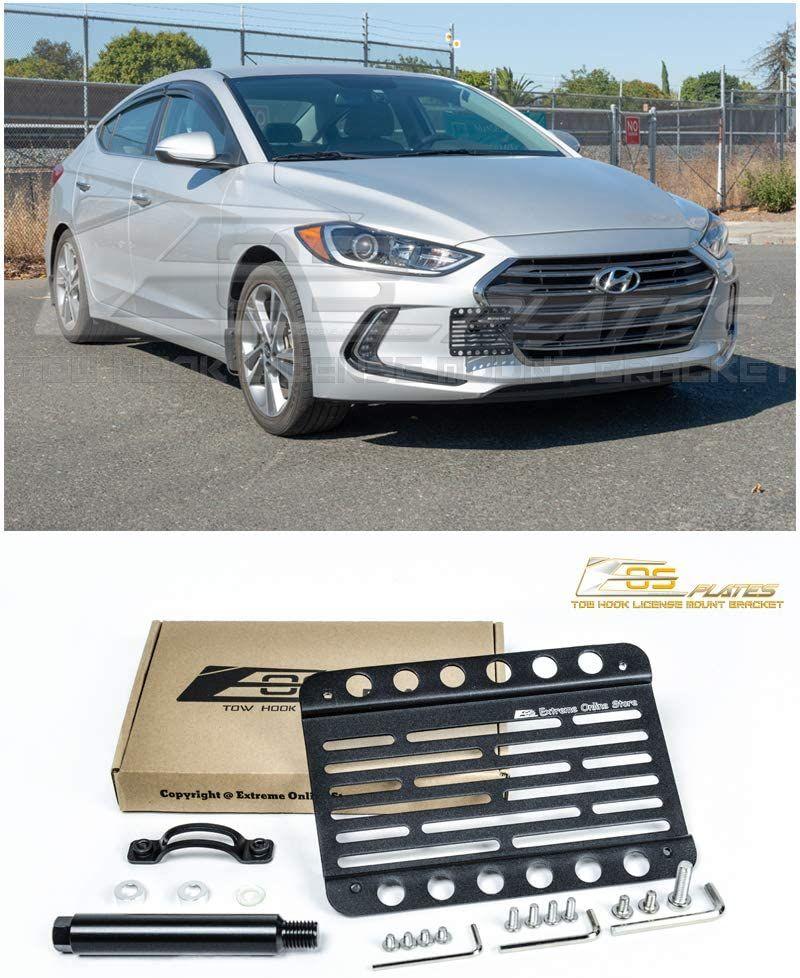 2017 Up Volkswagen Tiguan Eos Plate Version 1 Tow Hook License Plate Relocator Mount Bracket Hyundai Elantra Elantra Hyundai