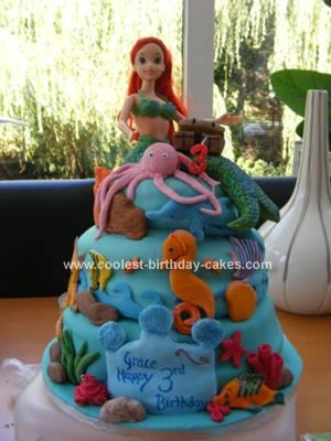 Coolest Ariel The Little Mermaid Birthday Cake Mermaid birthday