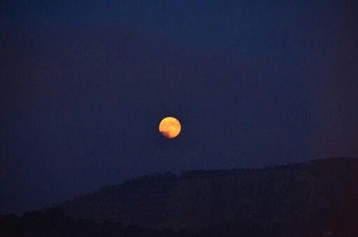 Luna llena de hoy vista desde mi casa :)