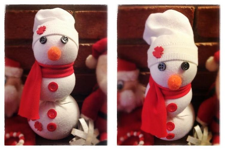 Cómo hacer un muñeco de nieve con un calcetín | Nieve, Cómo hacer y ...
