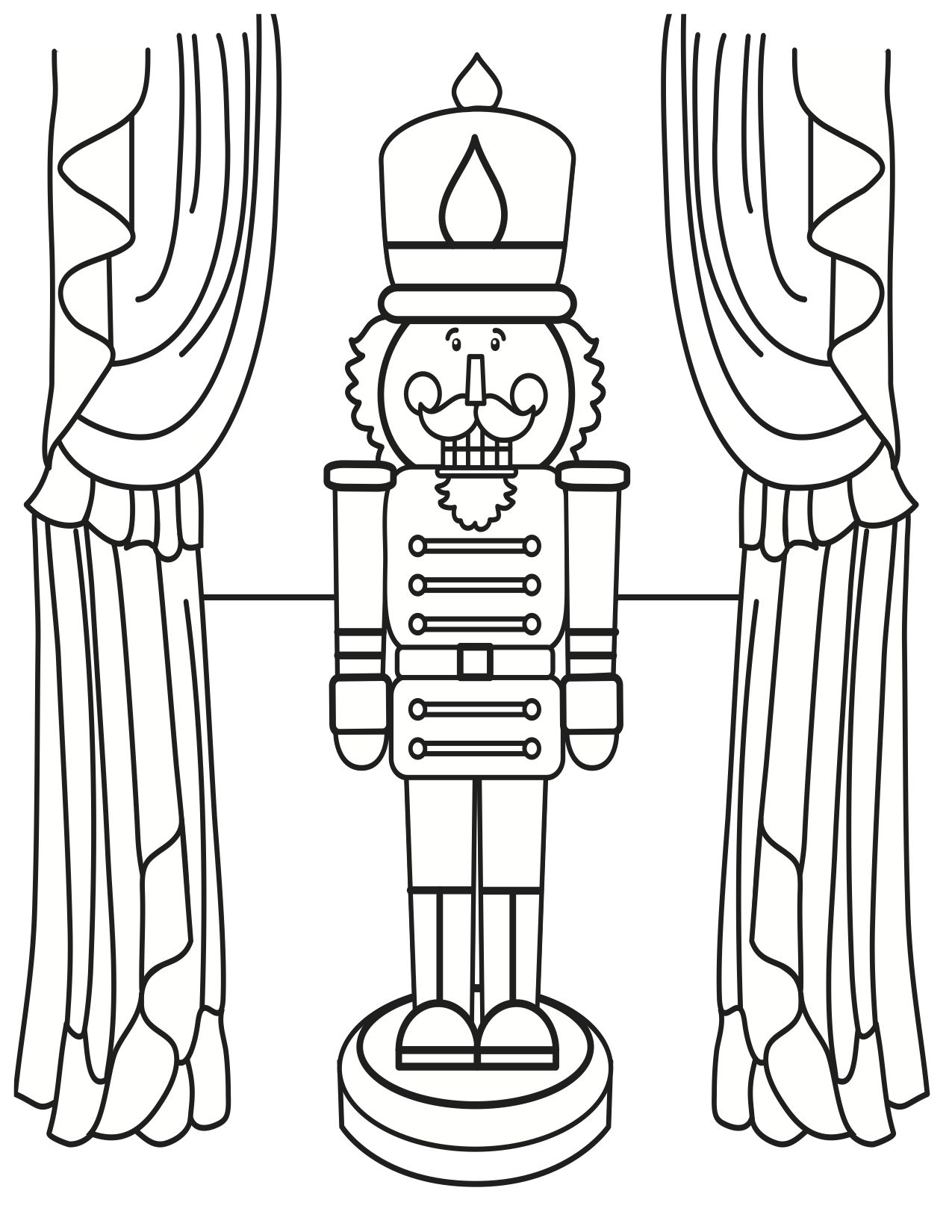 Nutcracker Coloring Page Kids Wood Crafts Pages