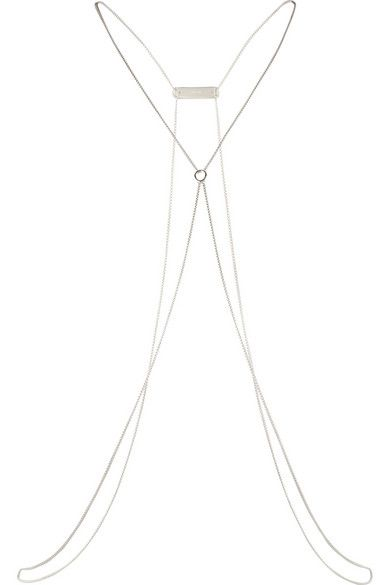 Kiki de Montparnasse | Make Love sterling silver diamond body chain | NET-A-PORTER.COM @netaporter Valentine's Day  #uniquegifts #lovegifts #luxegift