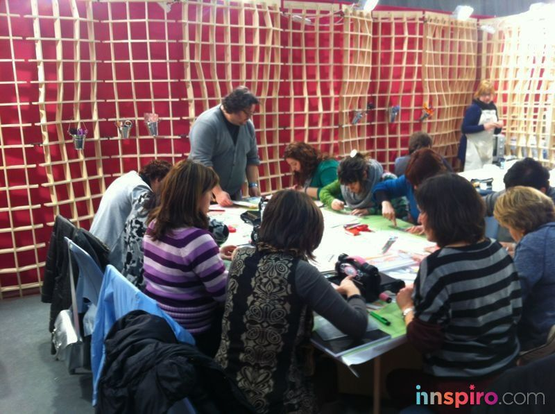 Así enseñaba Quim Díaz en su taller del stand de Innspiro en la Feria Tendencias Bilbao 2013. ¡Vamos Quim!