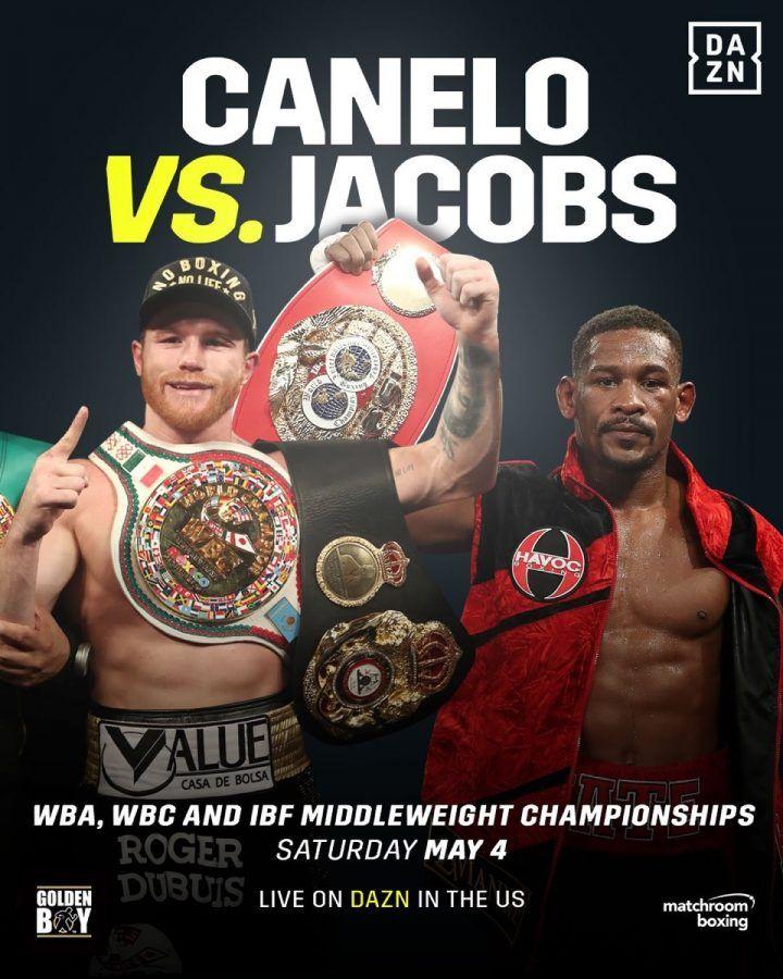 Sponsor Matchroom Boxing Usa: Canelo Alvarez Will Face Daniel Jacobs On May 4, 2019