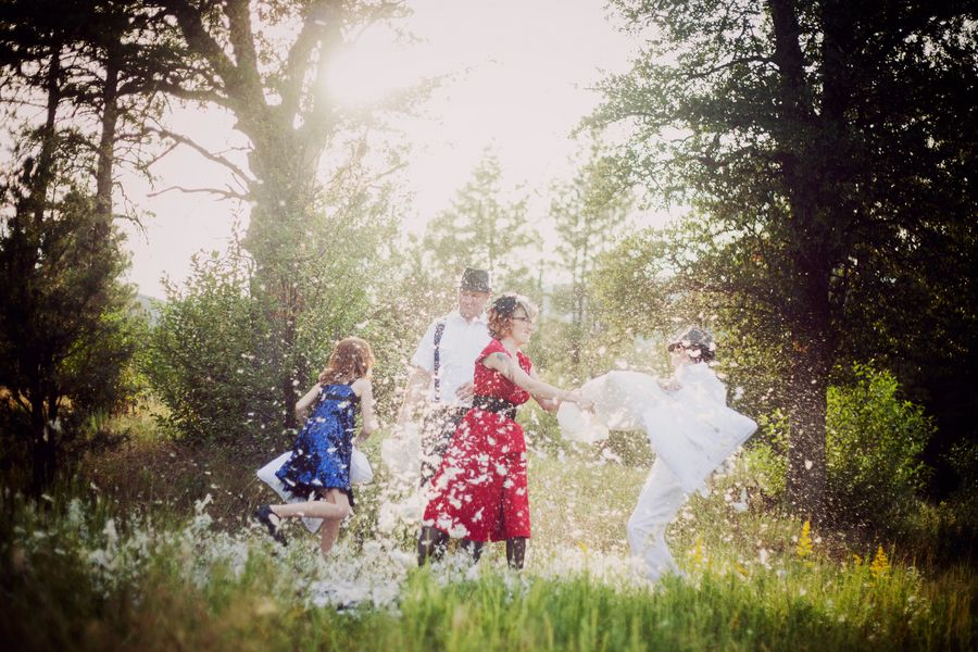 Pillow Fight! | Family Photography with Teens by Amy Martell
