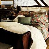 Ralph Lauren Shetland Manor Embroidered European Euro Pillow Sham Crea