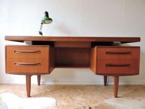 Bureau teck scandinave g plan années 60 meubles et déco pour la