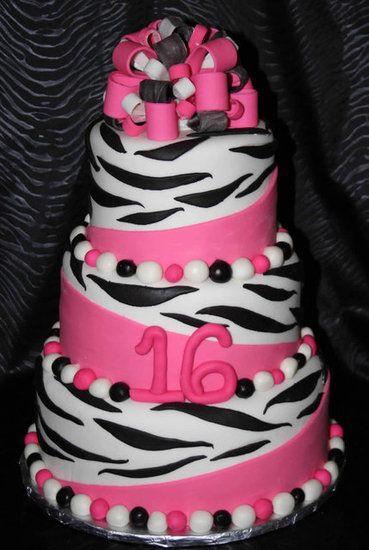 Teen Girl Birthday Cake Ideas Zebra Birthday Cakes For Teenage