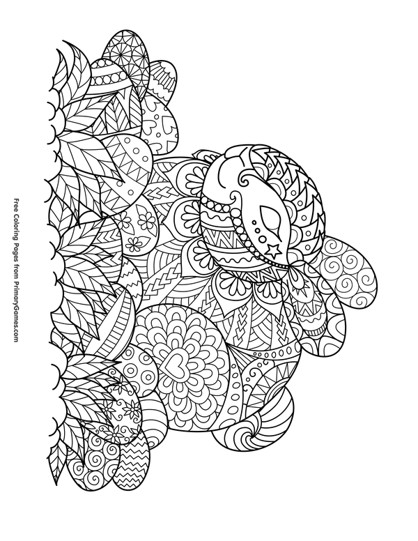 Easter Coloring Pages eBook Zentangle