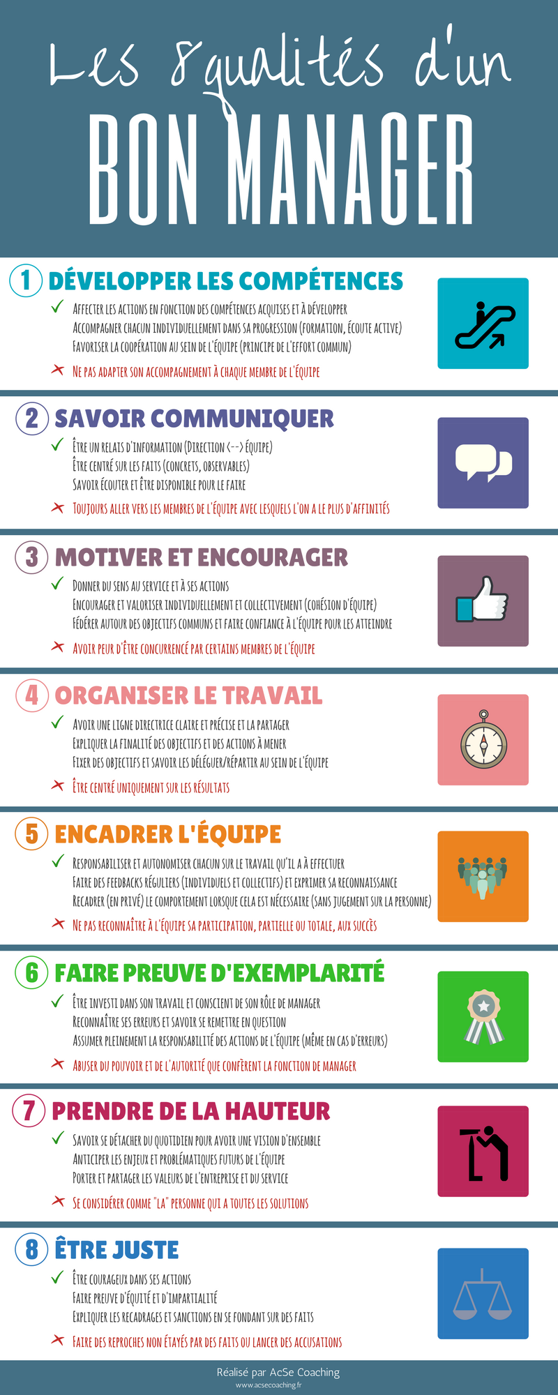 Les 8 Qualites D Un Bon Manager Acse Coaching Formation Management Motivation Au Travail Entretien Embauche