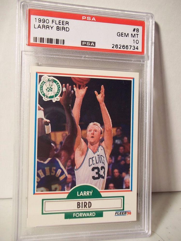 1990 fleer larry bird psa gem mint 10 basketball card 8