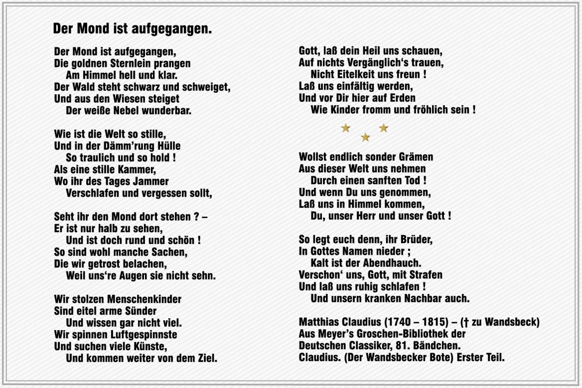 Gedichte Von Matthias Claudius