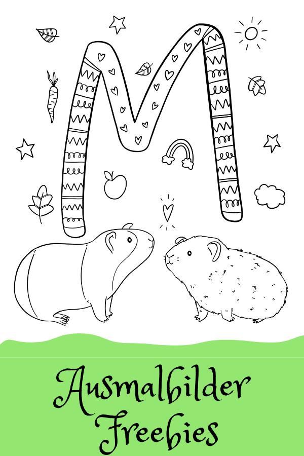 Ausmalbild M Wie Verliebte Meerschweinchen Von Alexa Malt Freubundel Ausmalen Ausmalbild Meerschweinchen