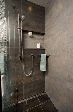 Porcelanosa Ferroker Aluminio Design Love the shower niche
