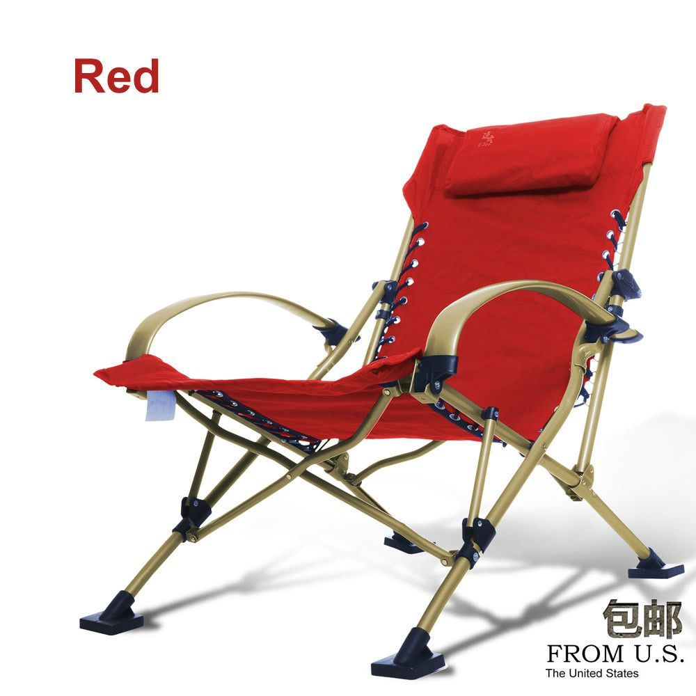 High Quality Durable Foldable Aluminum Chair Lounger 4 Colors