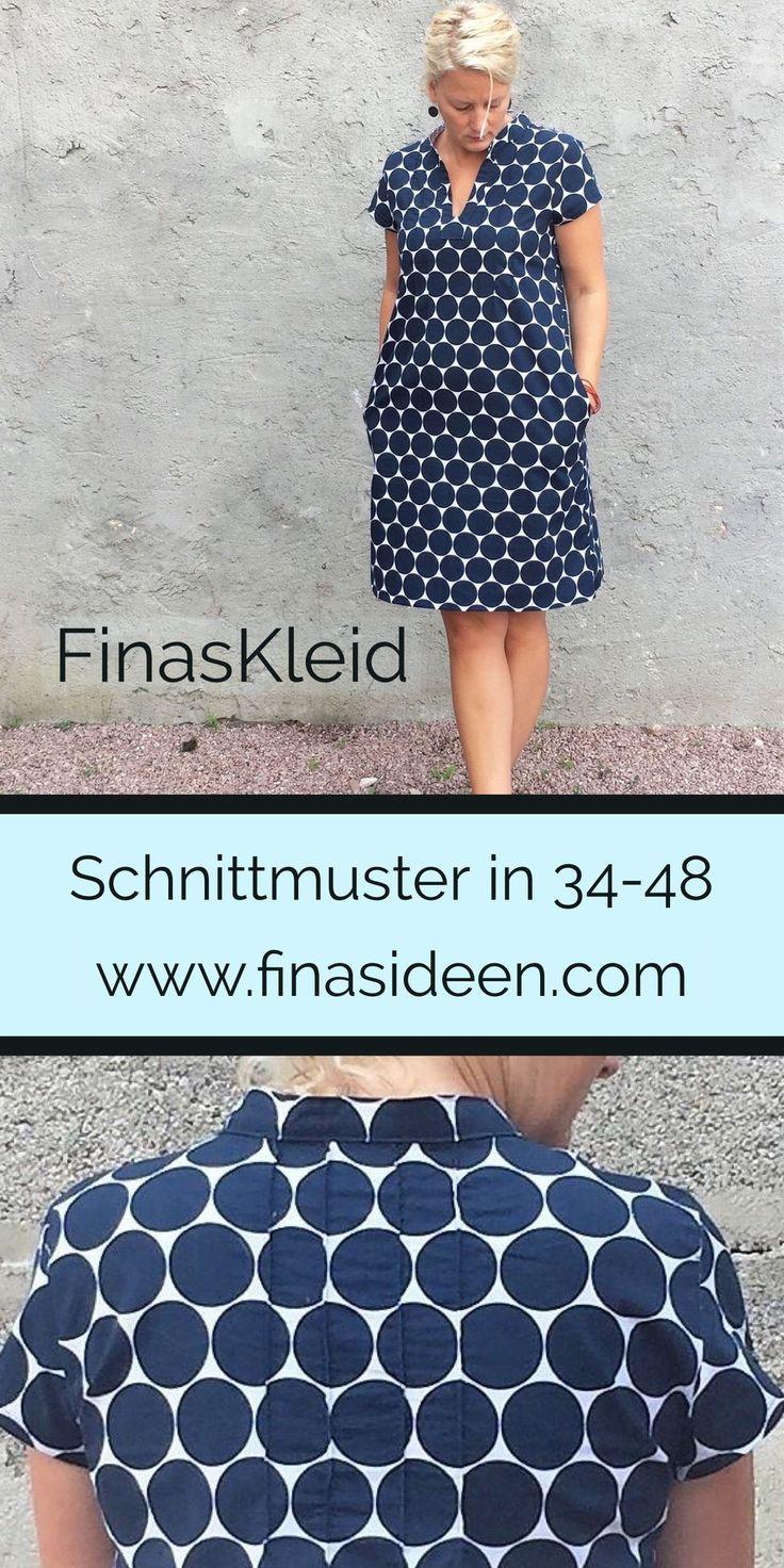 Finas Kleid- legeres Kleid mit wunderschönen Biesen in ...