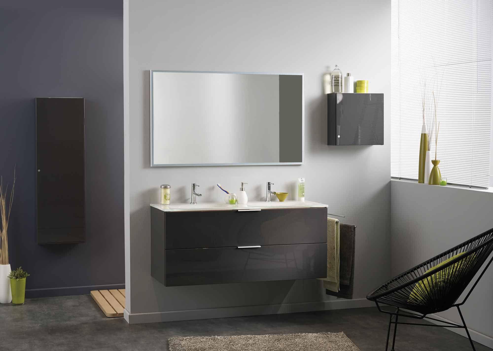 luxy armoire murale de salle de bains grise d coration. Black Bedroom Furniture Sets. Home Design Ideas