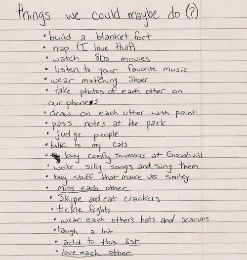 boyfriend list   some of these are TOO sweet/ sappy, but I