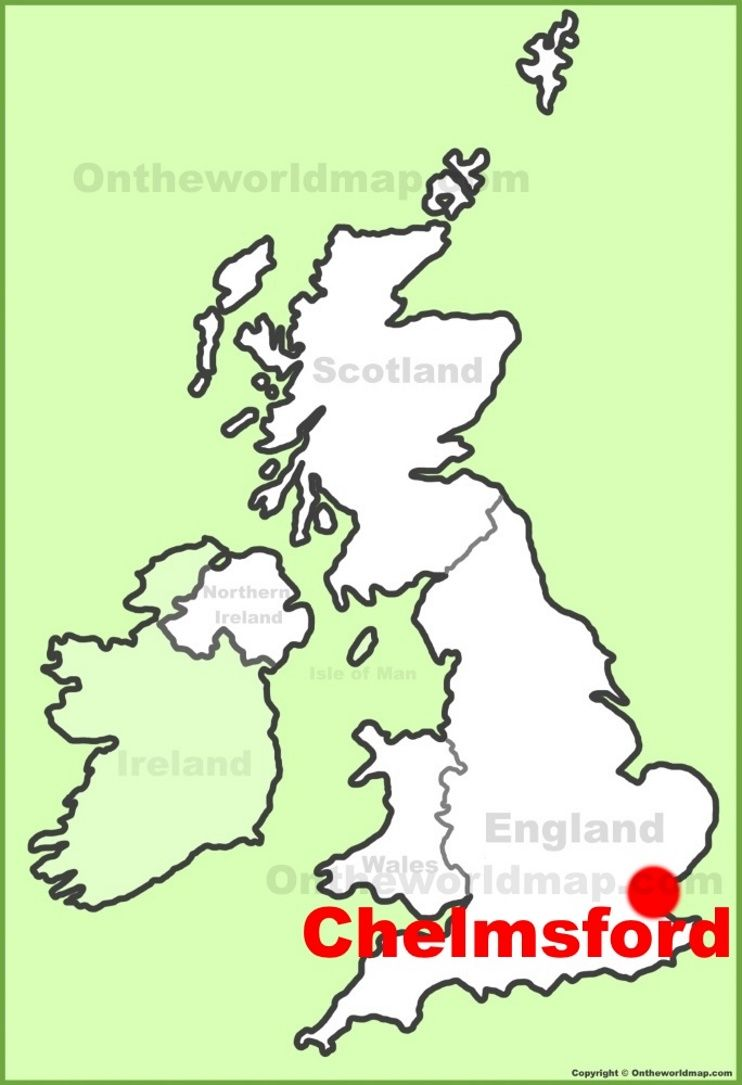 Chelmsford location on the UK Map Maps Pinterest City