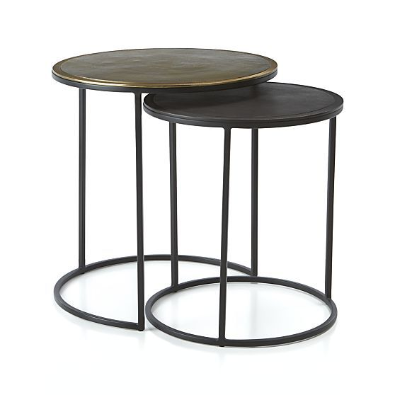 Best Knurl Nesting Accent Tables Set Of Two Small Accent 400 x 300