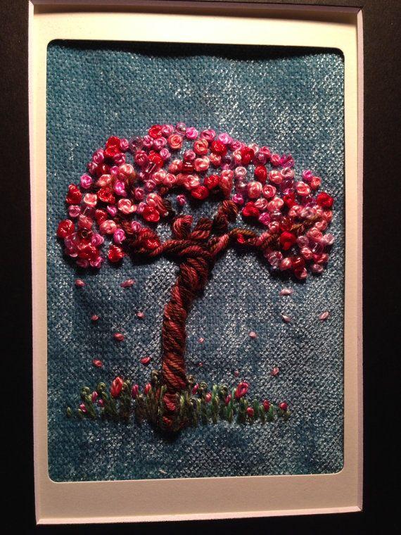 TRÈS FACILE. Broderie FREESTYLE. Un arbre pour les saisons