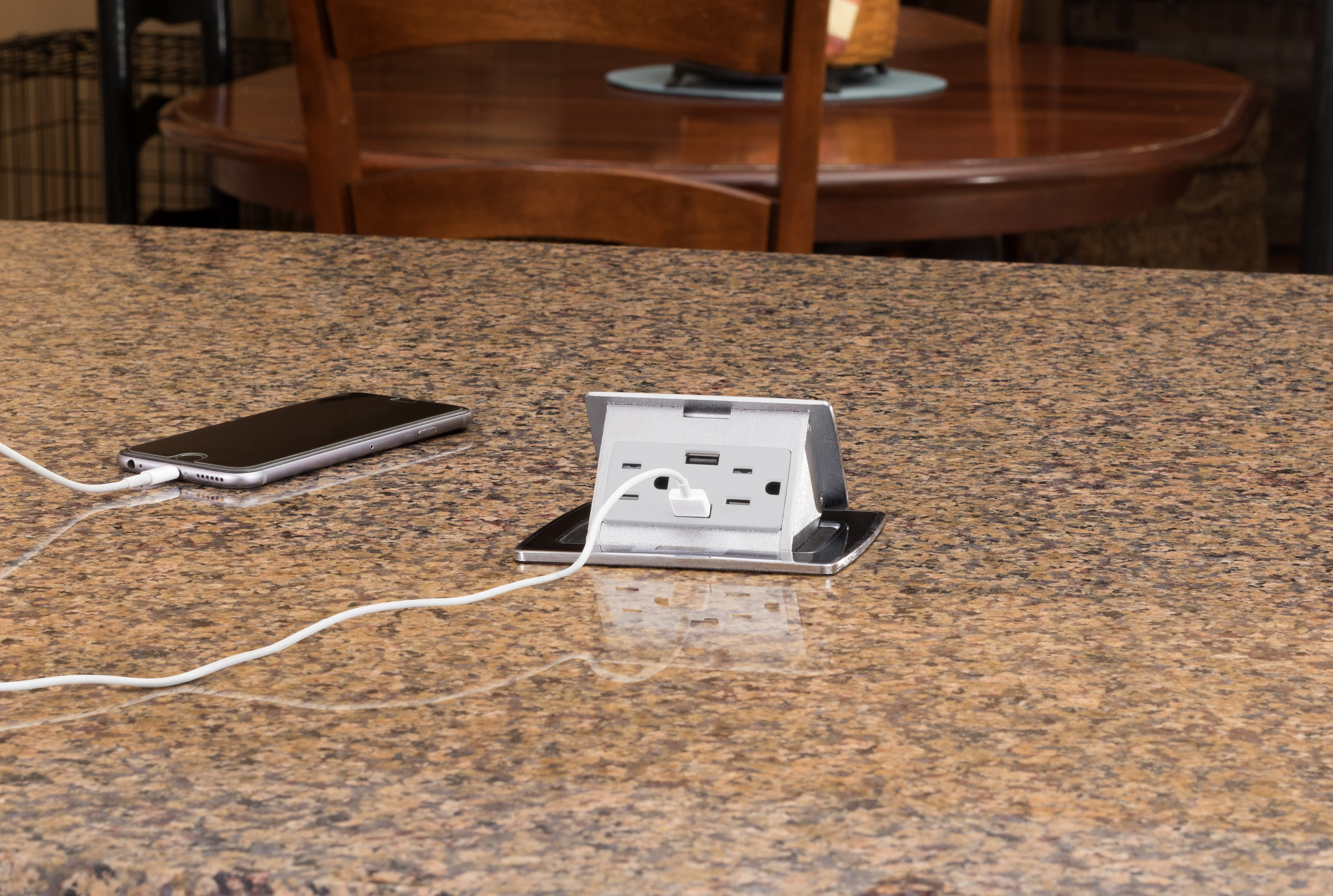 Lew Electric Pufp Ct Bk 2usb Countertop Pop Up Outlet Featuring 2 Power 2 Charging Usb And A Black Top Electrical Outlets Pop Up Outlets Pop Up