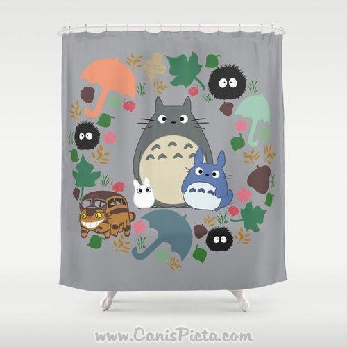 Totoro Kawaii My Neighbor Shower Curtain 71 X 74 Anime