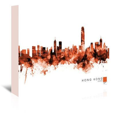 Americanflat Hong Kong by Michael Tompsett Graphic Art on Wrapped Canvas Size: