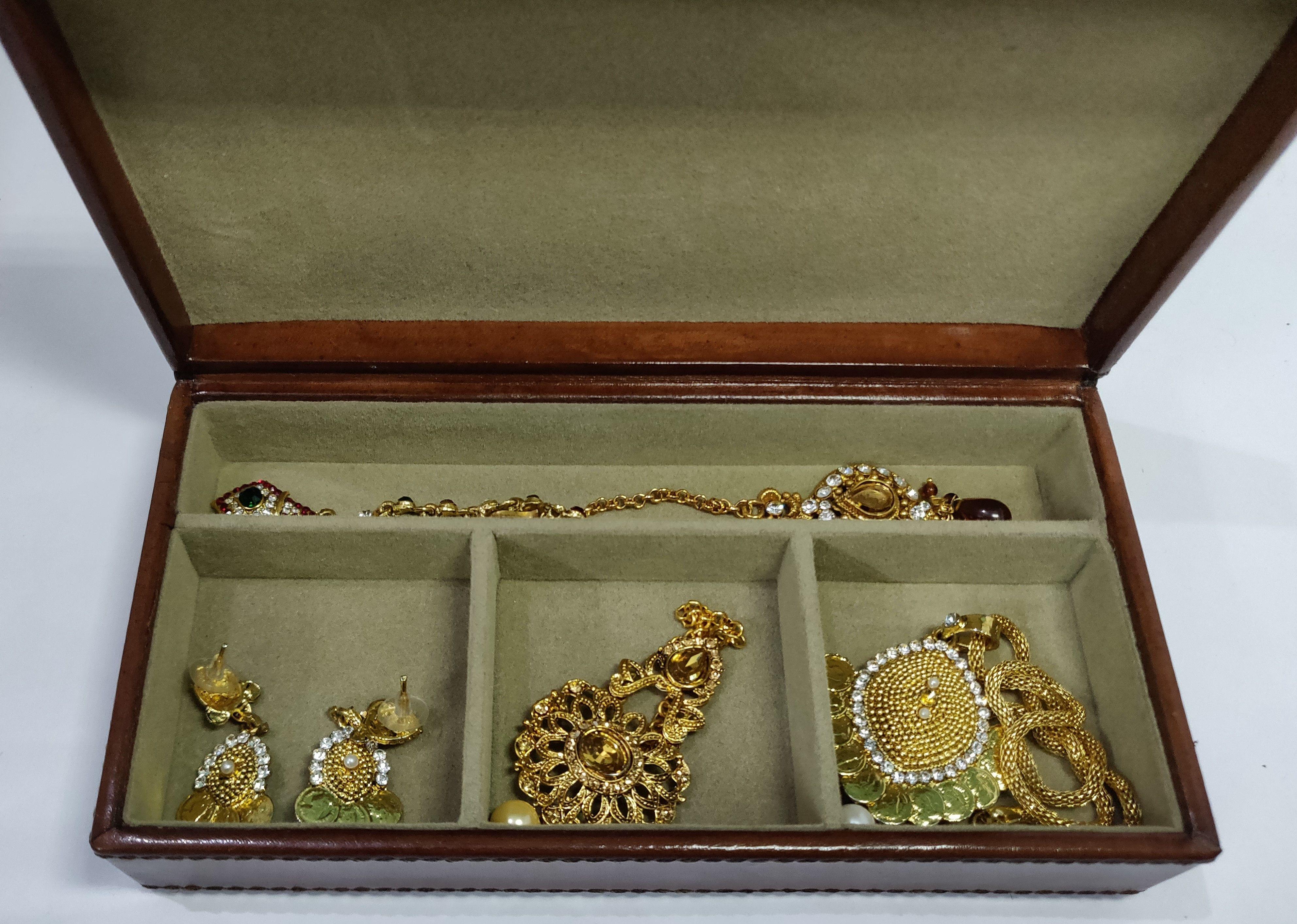 Genuine Leather Jewellery Box Made By Genuine Leather Handmade